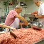 Bellaire Sons of Italy hard at work making sausage for the Italian festival