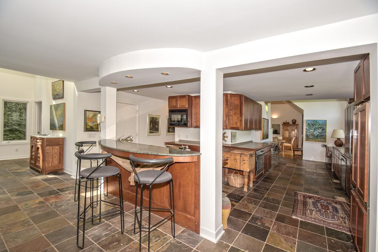 460 Eight Mile Road is a 4-bedroom, 4-bathroom home located on 6.7 acres of land in Anderson Township. And it's currently on the market for $575,000. / Image: Kathy Kelley, courtesy of the Oyler Group at Coldwell Banker West Shell // Published: 6.26.17