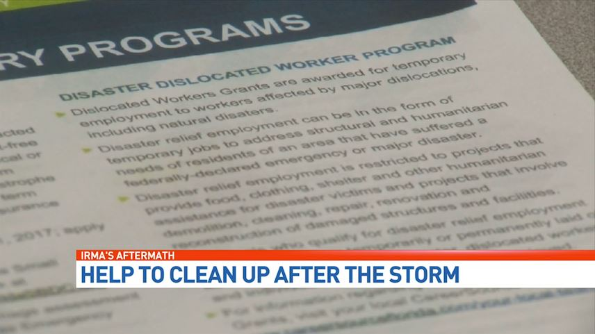 CBS12 reporter Andrea Marvin looks at the effort to get displaced workers back on the job. (WPEC)