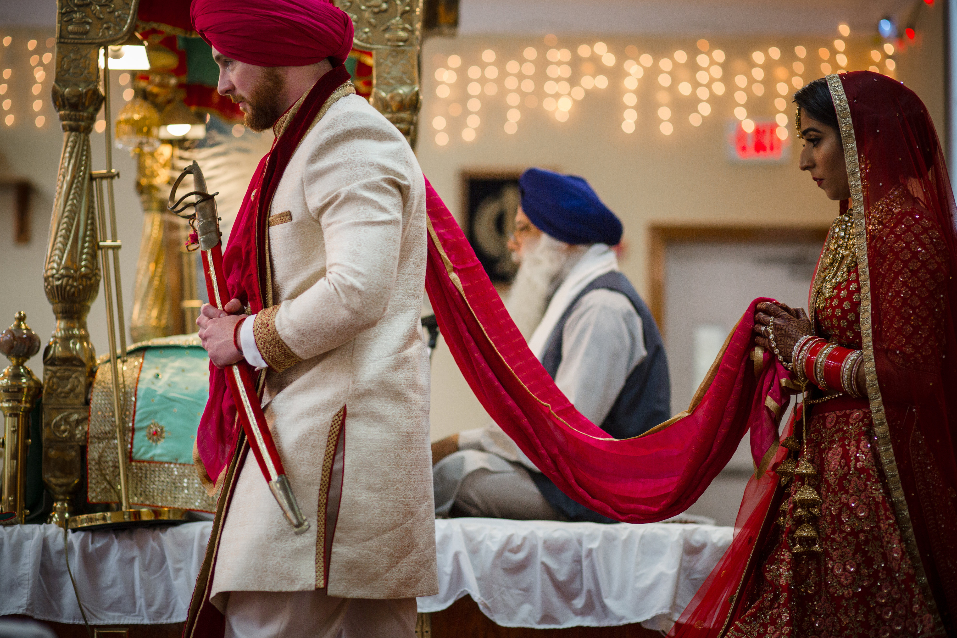 The official wedding ceremony, called Anand Karaj, lasts approximately one hour.(Image: Laura Bryan Photography){ }