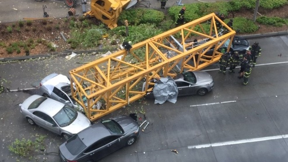 Cleanup underway after 4 killed in construction crane