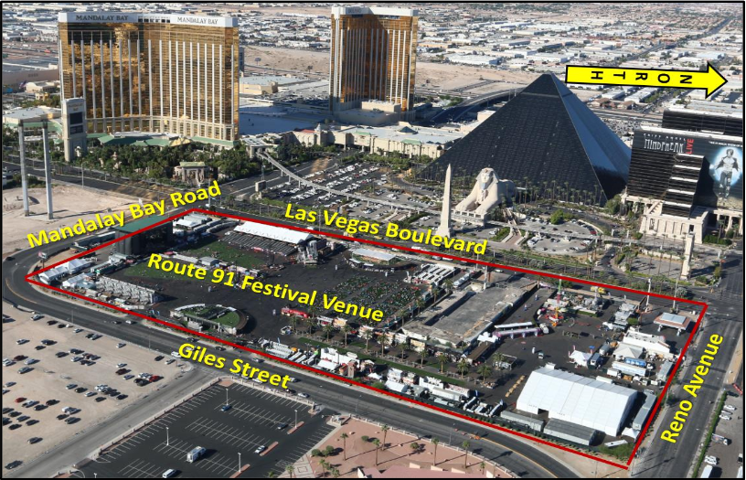 Route 91 Harvest Festival Diagram Courtesy LVMPD{ }(Courtesy LVMPD)