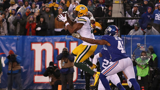Davante Adams hauled in two TD receptions for the Packers.