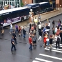 Protesters block traffic in the City of Rochester Thursday