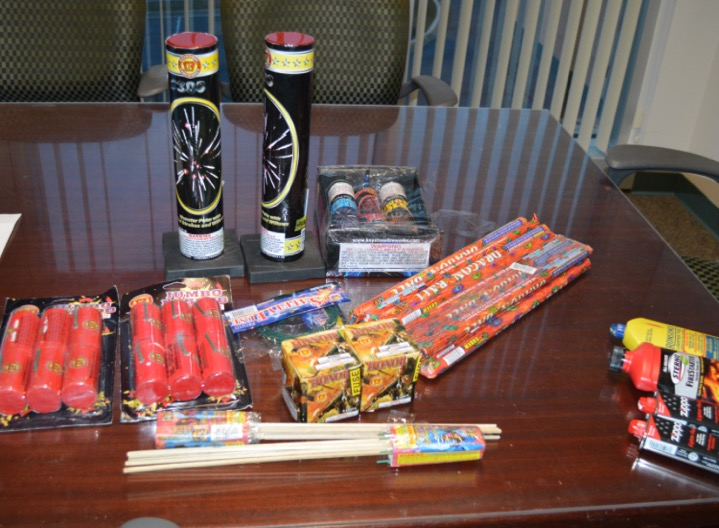 When police searched Cevario's home, they say they found the journal, a shotgun, ammunition, pipes and caps, shrapnel, fireworks, magnesium tape and fuse material. (Frederick County Sheriff's Office)