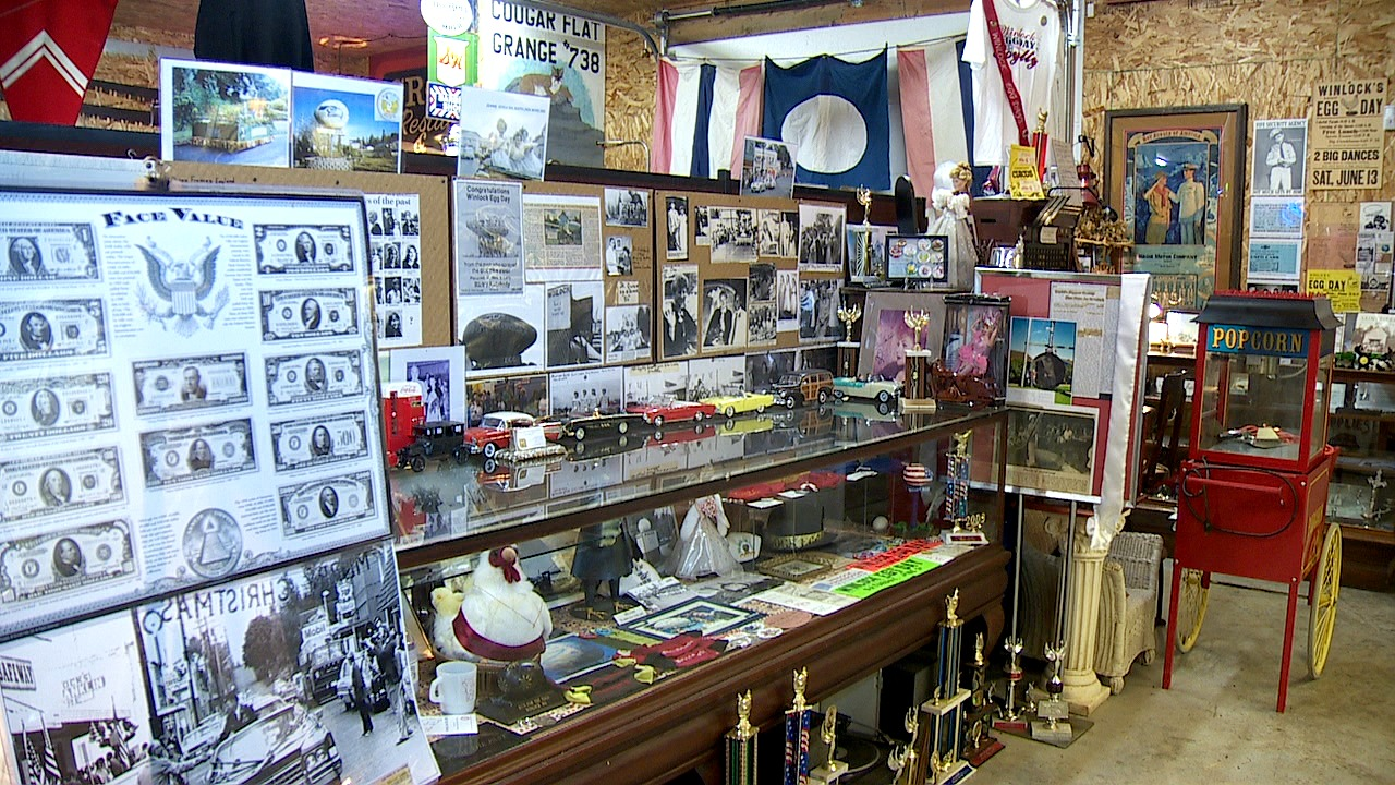 The Renegade Rooster in Winlock, Wash. is a museum preserving the town's history and features the collections of Roy Richards. (Photo: KOMO News)