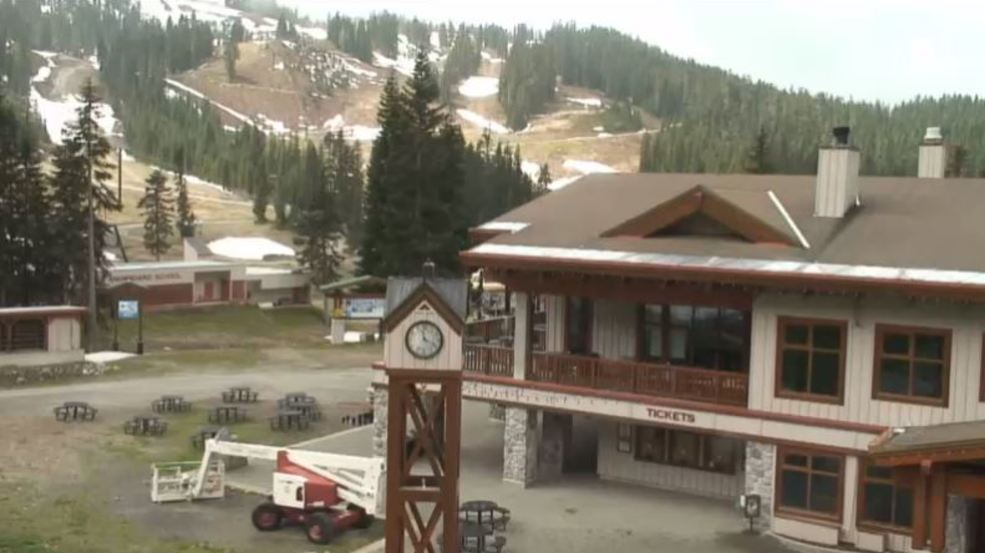 The snow is gone from Stevens Pass, and it's right about on time...