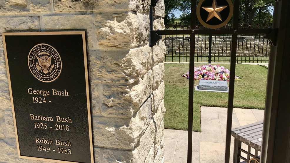 Gravesite Of Former First Lady Barbara Bush Opens To Public For