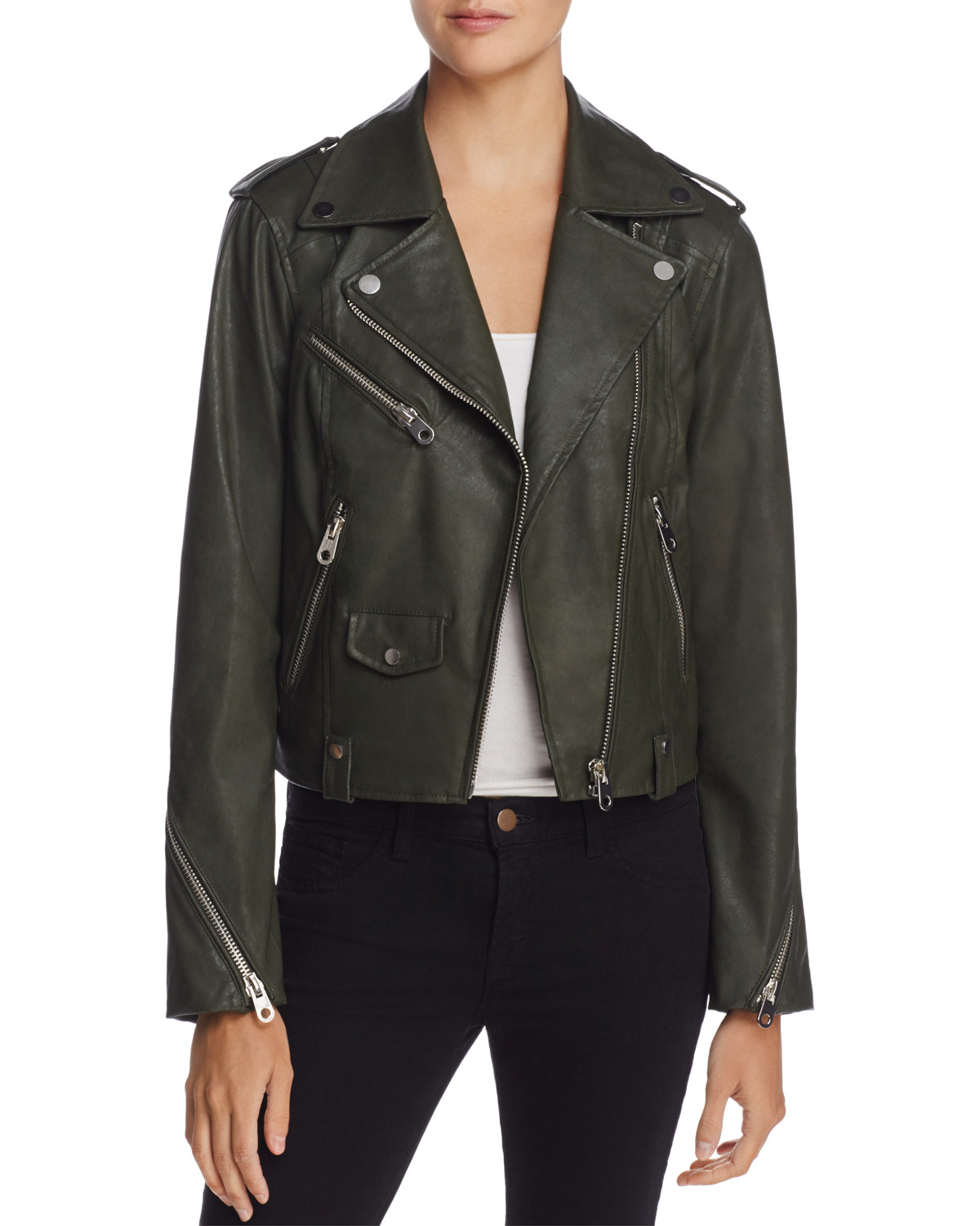 AQUA Faux Leather Moto Jacket from Bloomingdale's // Price: Org. $128, Sale. $89.50 // (Photo courtesy: Bloomingdale's)<p></p>