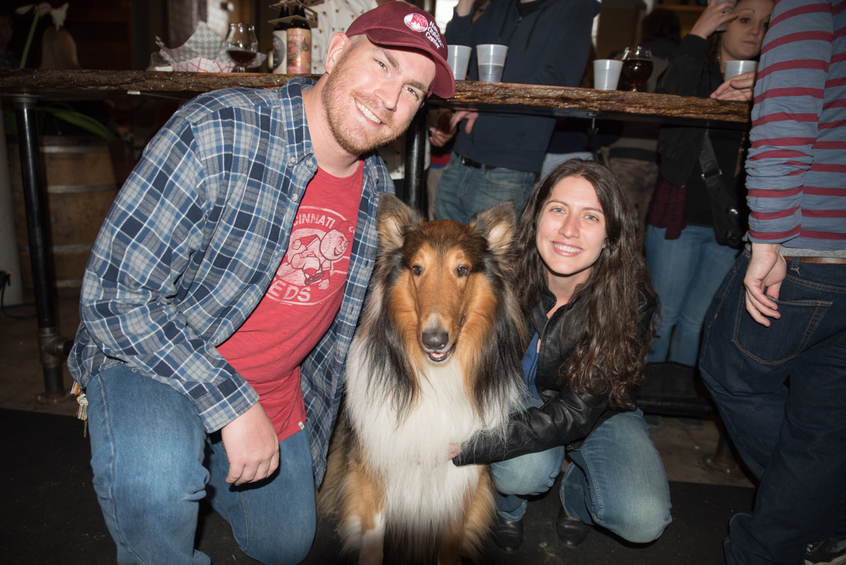 Matthew Jacobs and Erika Jacobs with Louis the dog / Image: Sherry Lachelle Photography