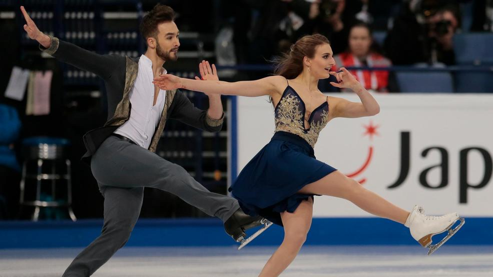 French Ice Dancer Undone By Wardrobe Malfunction On Live Tv