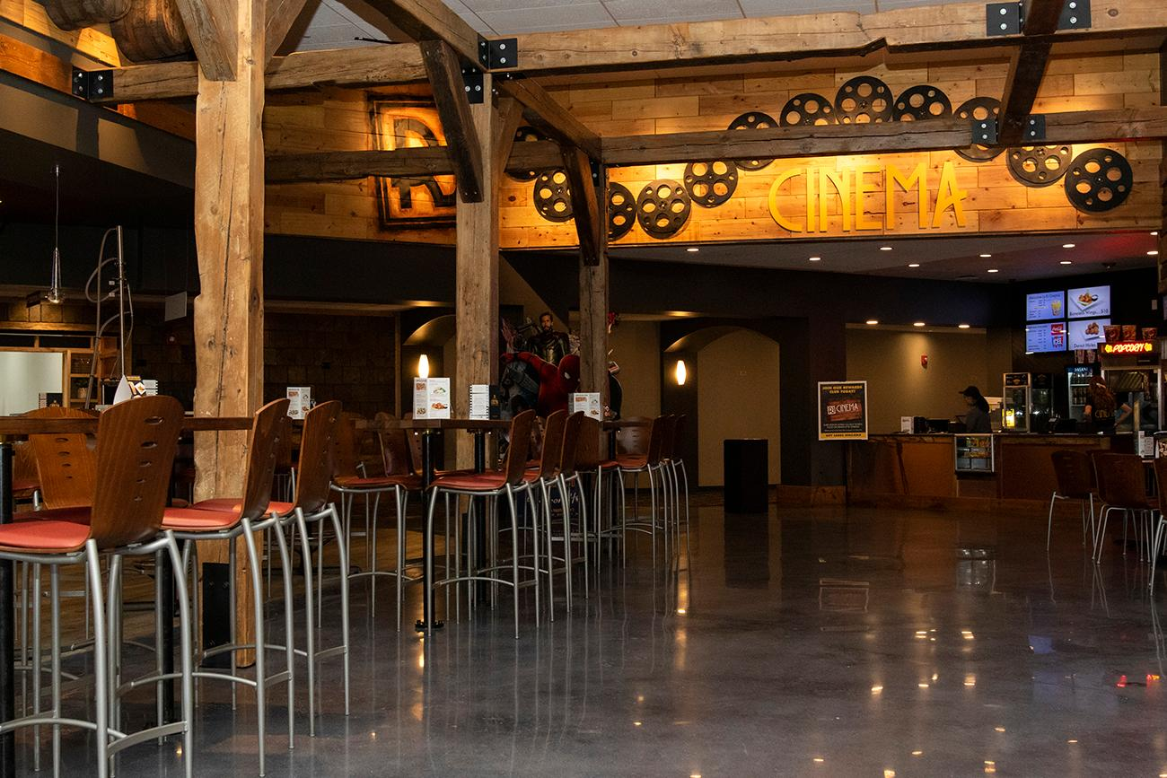<p>RJ Cinema Distillery & Taproom in Eastgate enhances the movie-going experience by offering  a robust food menu along with craft beer and mixed drinks. The mixed drinks are made with the theater's own Robert James Distillery, which is located in Norwood. The taproom is inside the theater entrance and offers a great space to enjoy snacks and drinks before or after seeing a movie. ADDRESS: 4450 Eastgate South Drive, Suite 100 (45245) / Image: Allison McAdams // Published: 8.8.19</p>