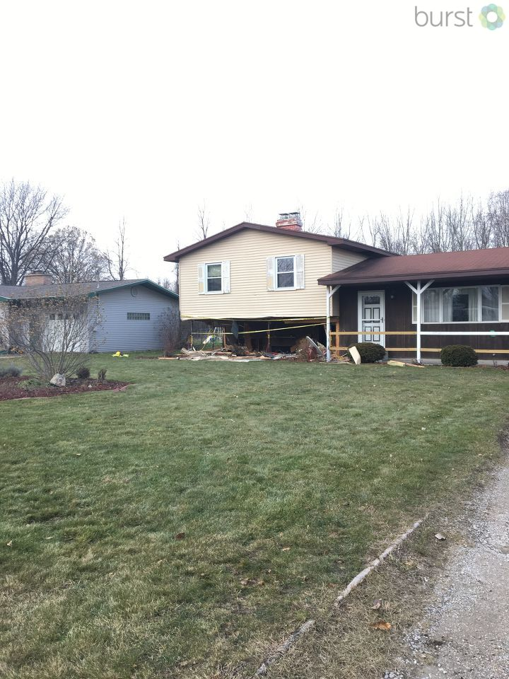 Bangor Township Police say a 23-year-old man is in critical condition after his vehicle plowed into a home. (Photo Credit: Marketia Bady)
