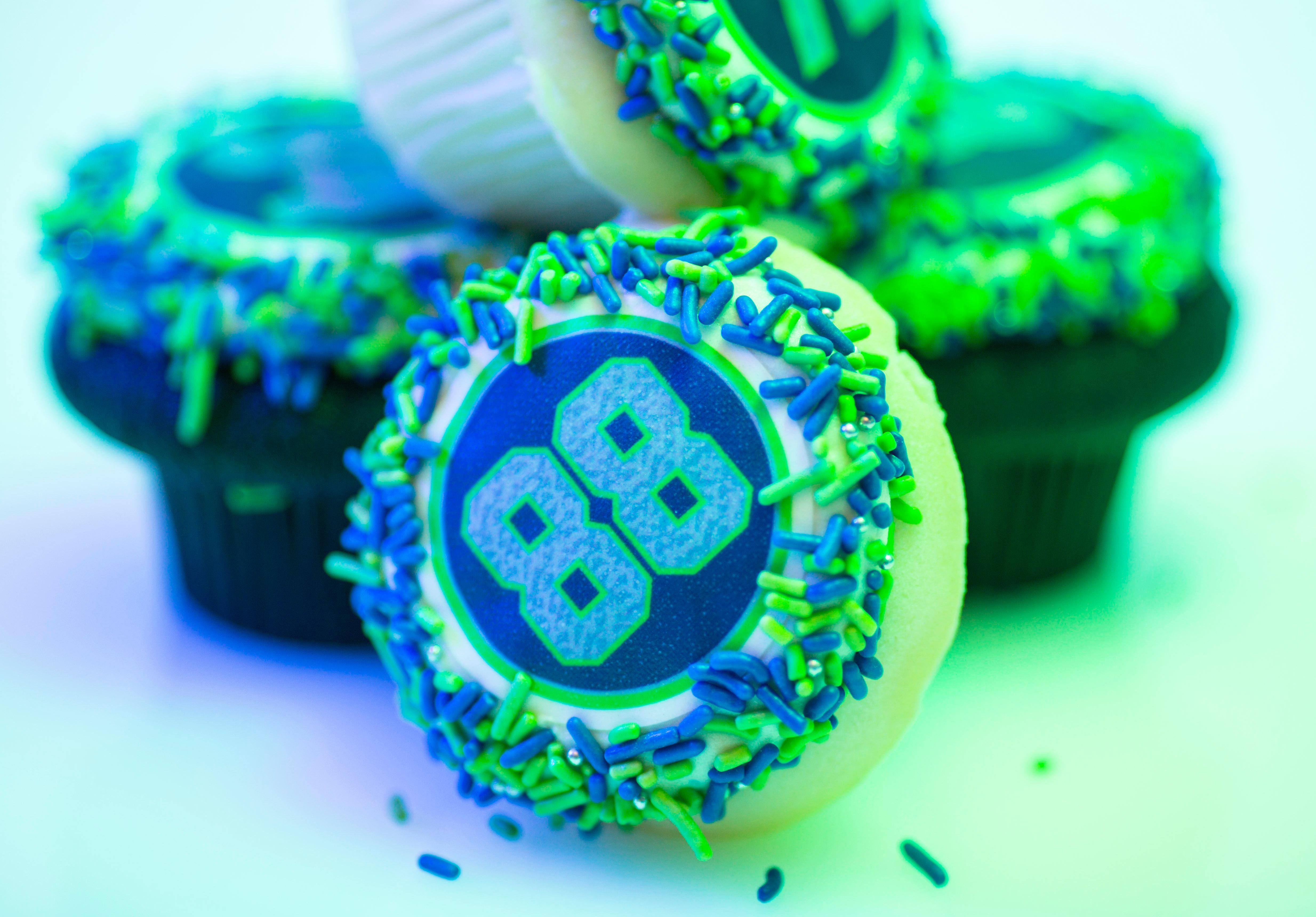 As the 2017 Seahawks season is now upon us, we thought it we be great to share a bunch of Seahawk-themed goodies that we found from local bakeries that you can buy and bring to your next tailgate party. Cupcake Royale makes this Seattle Pro Pack with all of your favorite players' numbers. (Sy Bean / Seattle Refined)