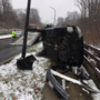 SUV takes significant damage in crash as snow hits Montgomery County