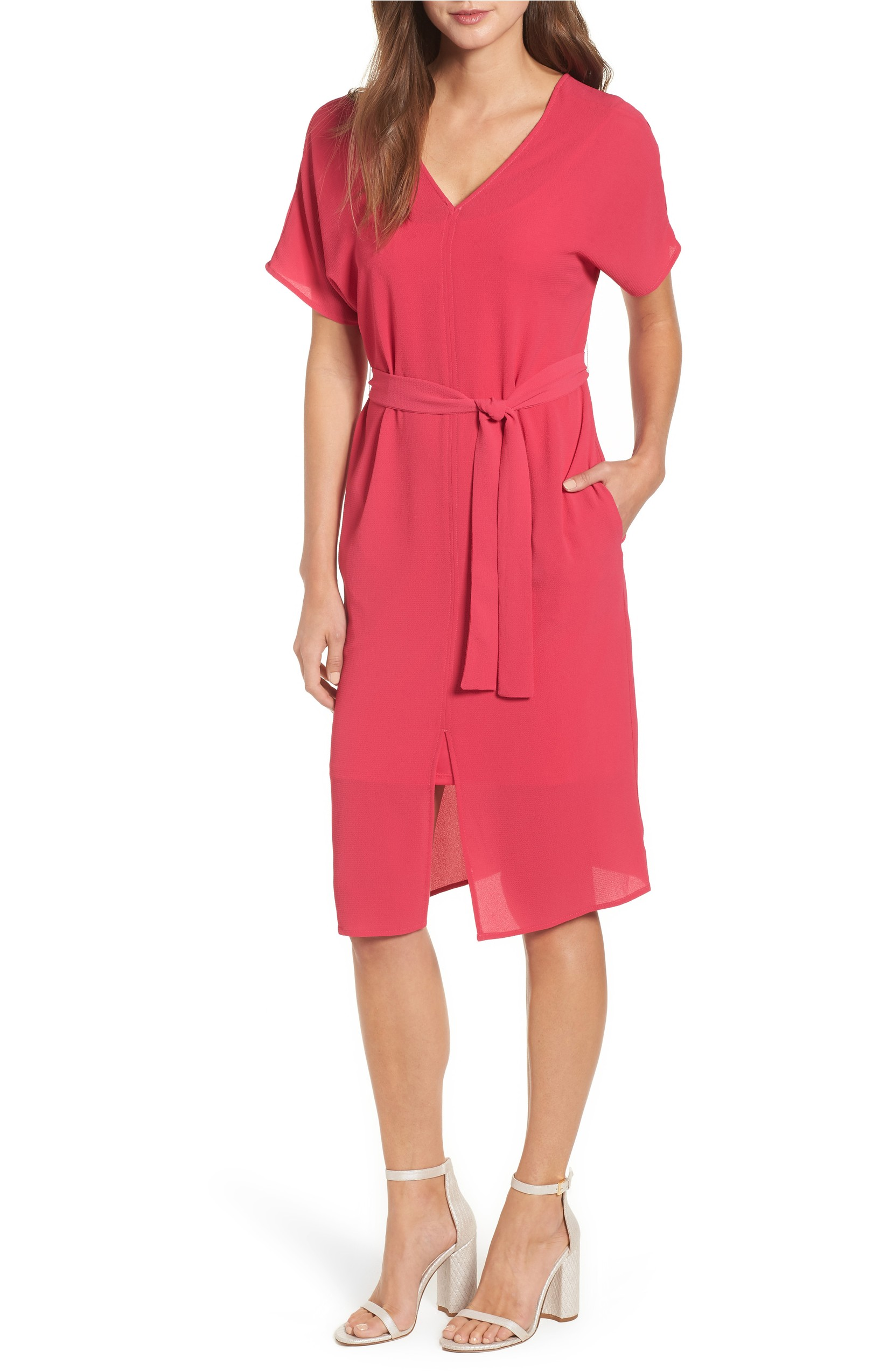 This Stretch Crepe Dress was originally $59 and is now $39.53. Simple seaming and clean lines elevate an essential dress with a belted waist.<p>(Image: Nordstrom)</p>
