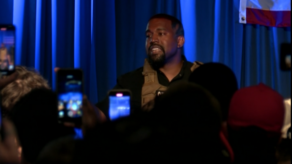 Kanye West at first presidential campaign rally CNN Newsource.PNG