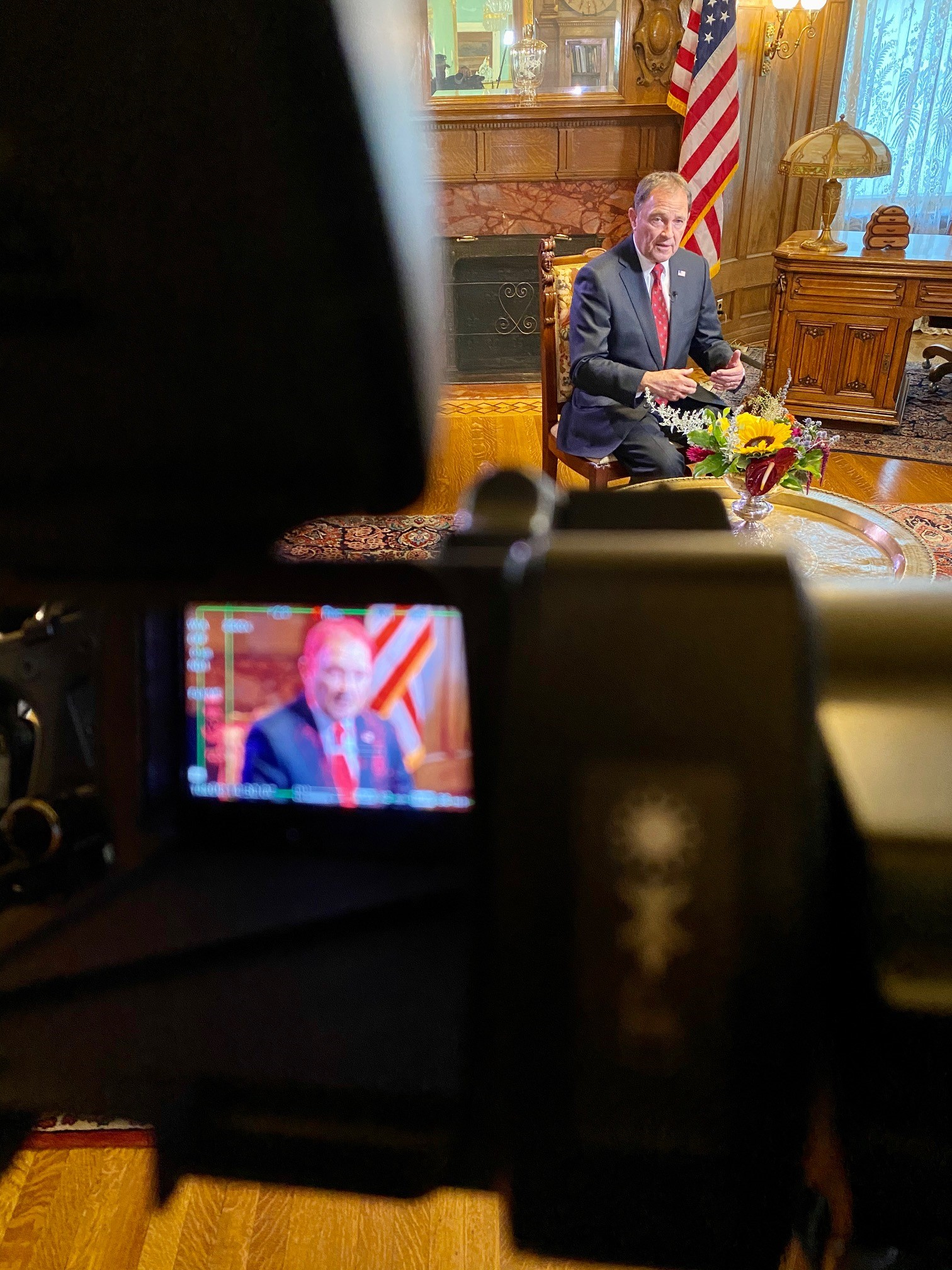 Gov. Gary Herbert sits down with Heidi Hatch and Mark Koelbel for a live interview on 2News at 6 p.m. on August 12, 2020. (Photo: Mike Stephen / KUTV)