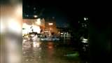 VID | Home Depot parking lot turns into river in Frederick