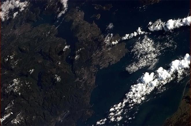 Victoria BC, with Canada's major Naval Base, on Vancouver Island. (Photo & Caption: Chris Hadfield/NASA)