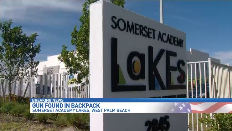 Gun found in student's backpack at  Somerset Academy Lakes. (WPEC)