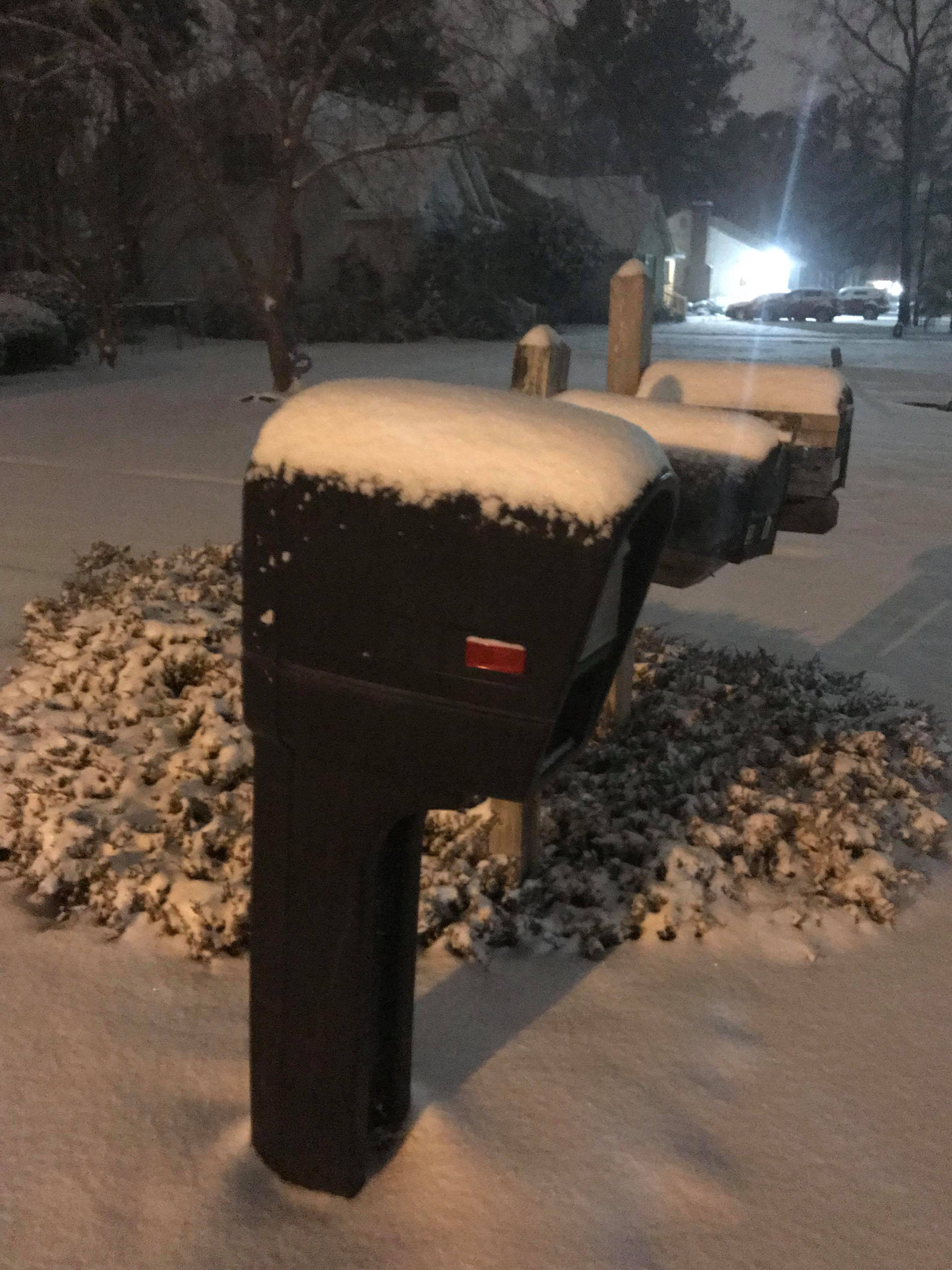 Snow covered mailboxes in Florence (Submitted by Barry McElhannon)