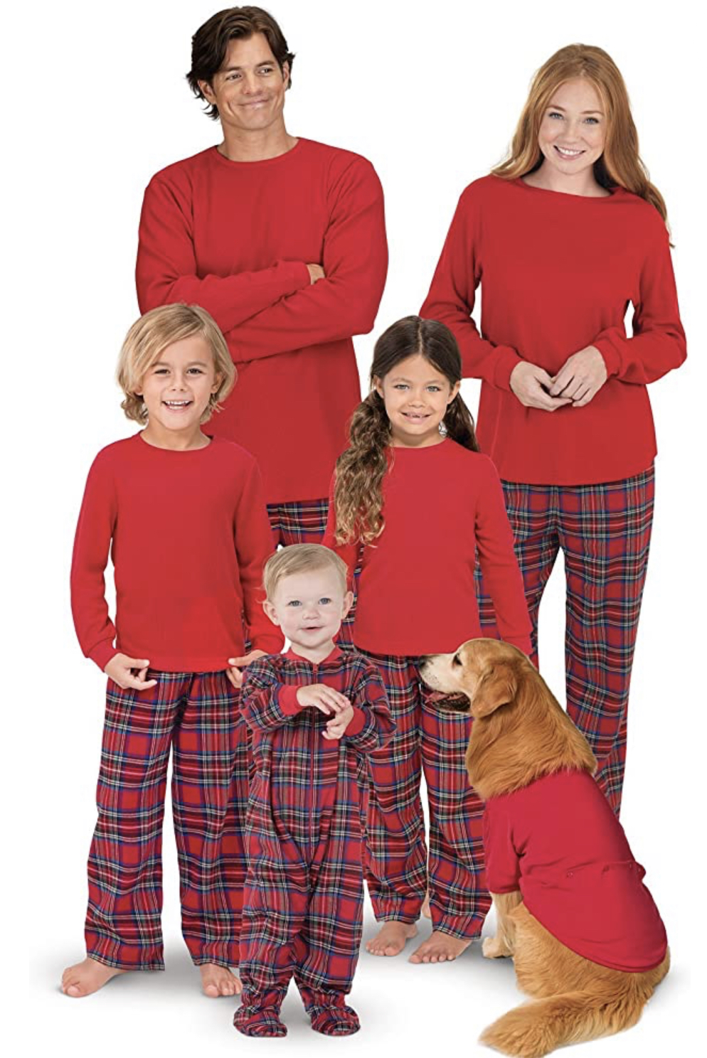 "<p>Love the red and plaid combo and there's literally an outfit for the dog...if your pup is into it!{&nbsp;}<a  href=""https://www.amazon.com/PajamaGram-Flannel-Stewart-Matching-Christmas/dp/B08FCM1PR6"" target=""_blank"" title=""https://www.amazon.com/PajamaGram-Flannel-Stewart-Matching-Christmas/dp/B08FCM1PR6"">Shop the look</a>.{&nbsp;} (Image: Amazon){&nbsp;}</p>"
