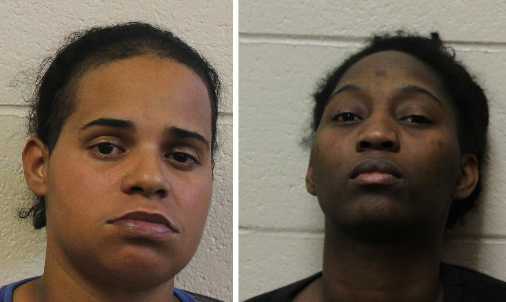 Amanda Wright, left, and Besline Joseph. (Wicomico County Department of Corrections)