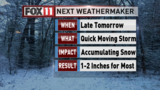 Next WeatherMaker: Accumulating snow moving in
