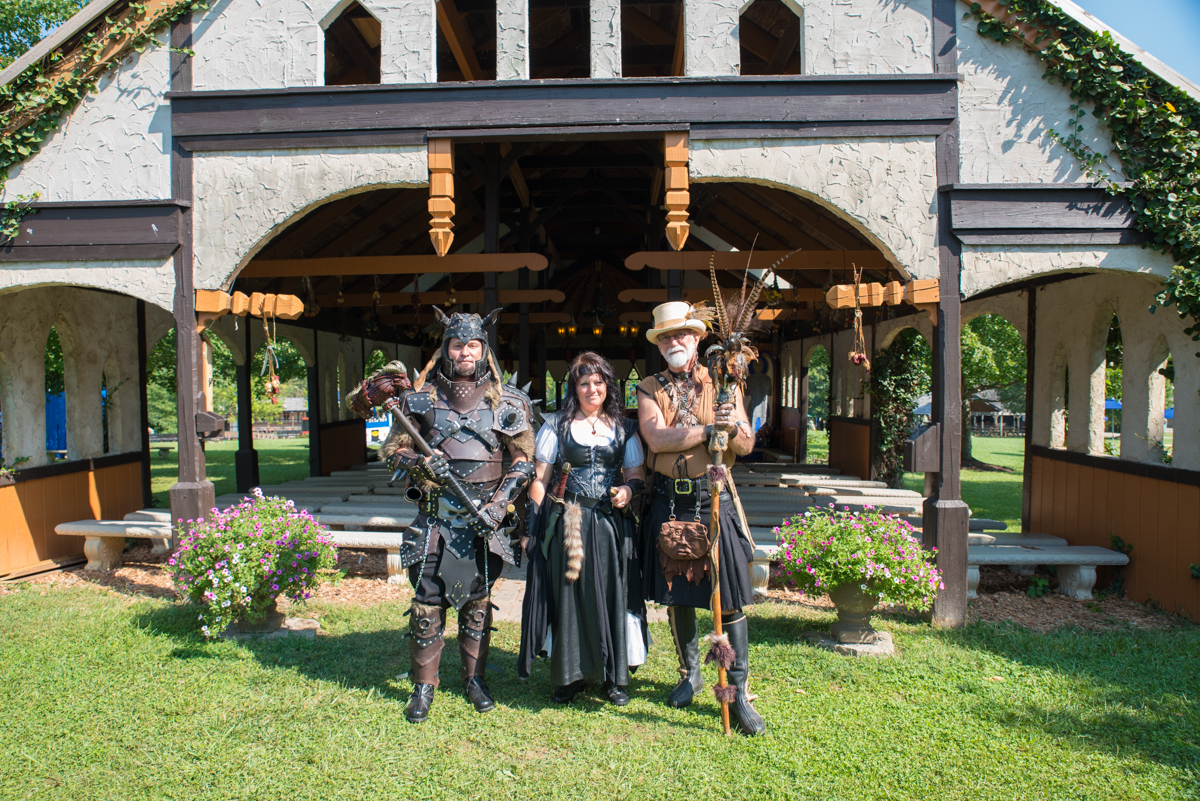 People: John and Martha Addair with Joe Studebaker / Event: Ohio Renaissance Festival / Image: Sherry Lachelle Photography / Published: 10.1.17