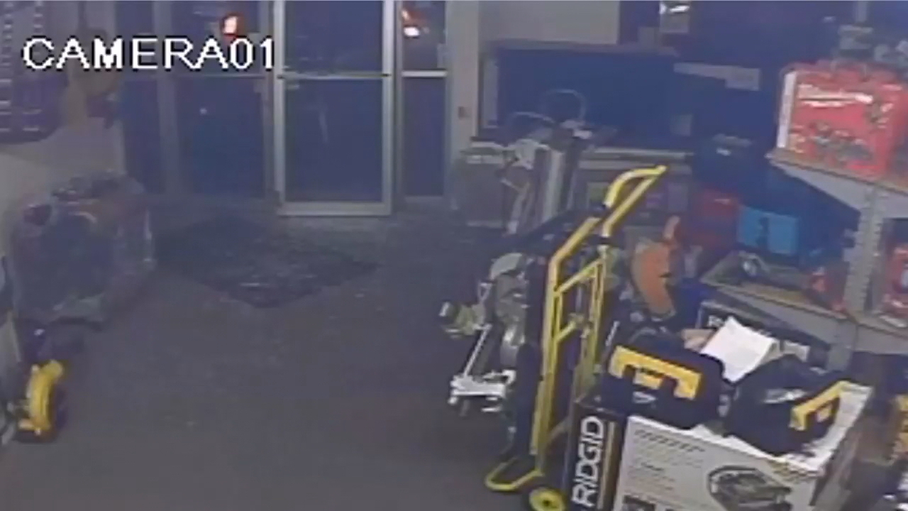 Tumwater Pawn Brokers was robbed by three masked men after a car backed through their front entrance, smashing the door.