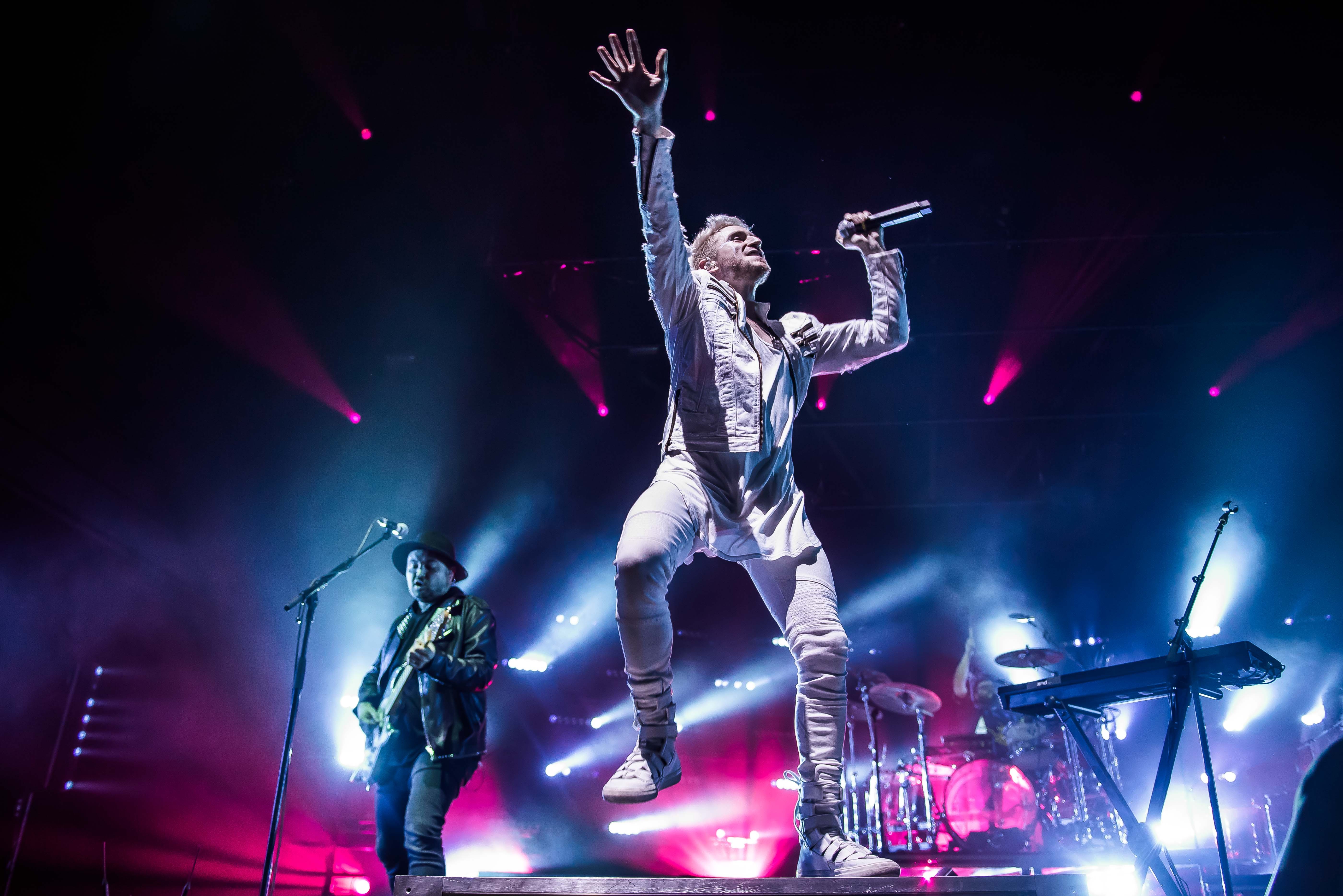 After a year and a half off the road, Cincinnati-based rock band WALK THE MOON kicked off their Press Restart Tour on Friday,{ } January 12 at The Anthem. The tour will hit 27 cities, and celebrates their third major label release, 2017's What If Nothing. Company of Thieves opened the show. (Image: Joy Asico)