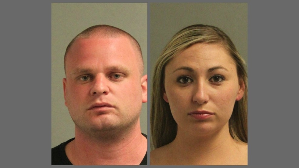 Michael Ceresa and Alayna Rhodes were arrested and charged with disorderly conduct and other charges in Glen Burnie, Md. in April 25. (Anne Arundel County Police)