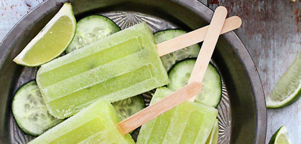 Cucumber Honeydew Margarita Popsicles. (Image: Endless Simmer)