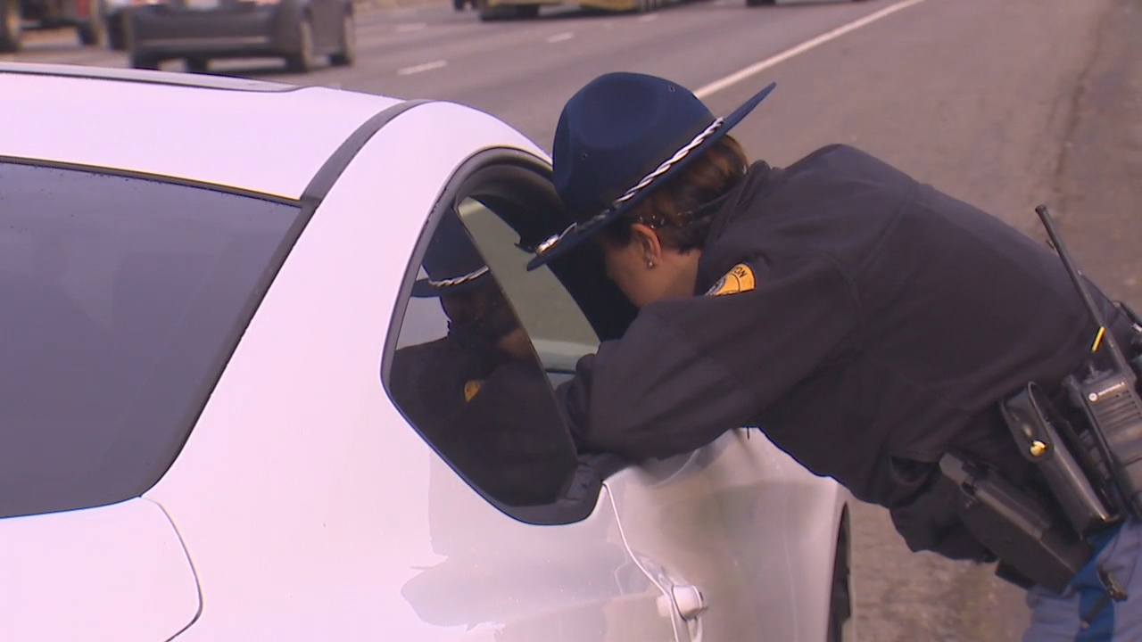 After six months of handing out warnings, drivers will now have to pay a $136 fine they can't keep their hands off their phones. Police and the State Patrol began full enforcement of the the state's new stricter distracted driving law Jan. 2, 2018. (Photo: KOMO News)