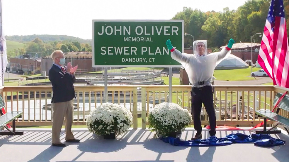 Comedian John Oliver now has a sewage plant named after him
