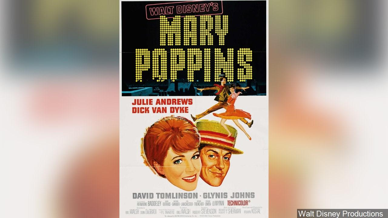 Movie poster for the 1964 film, 'Mary Poppins' (Photo: Walt Disney Productions via MGN Online)
