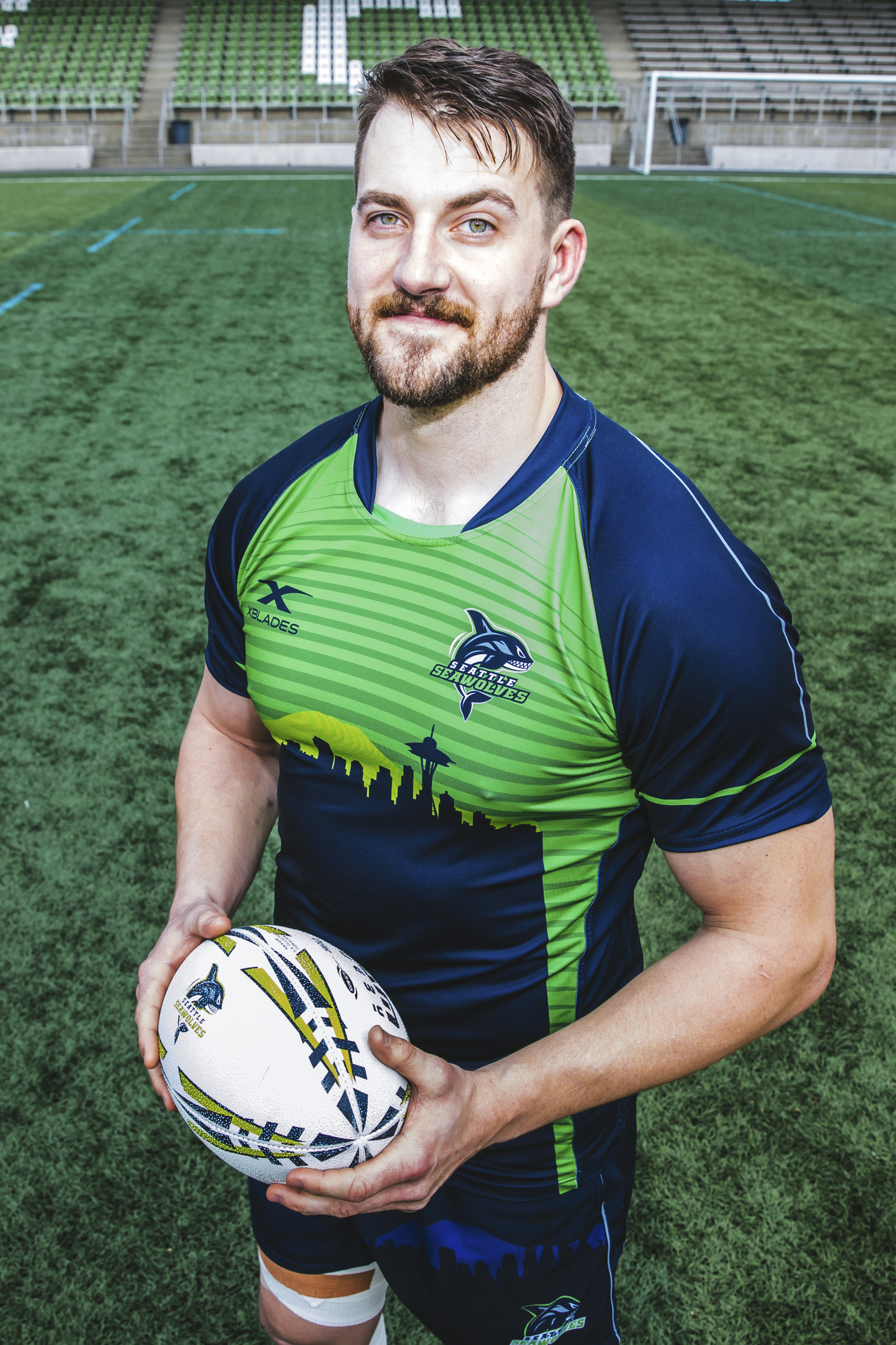 Meet Cam! This handsome man is from London, Ontario. The 29-year-old plays Flanker (although the roster says Lock so maybe he's a Flock? Sorry - bad joke) for the Seattle Seawolves, and his celebrity crush is Gal Gadot. Three cheers for Superwoman. (Image: Sunita Martini / Seattle Refined).{ }