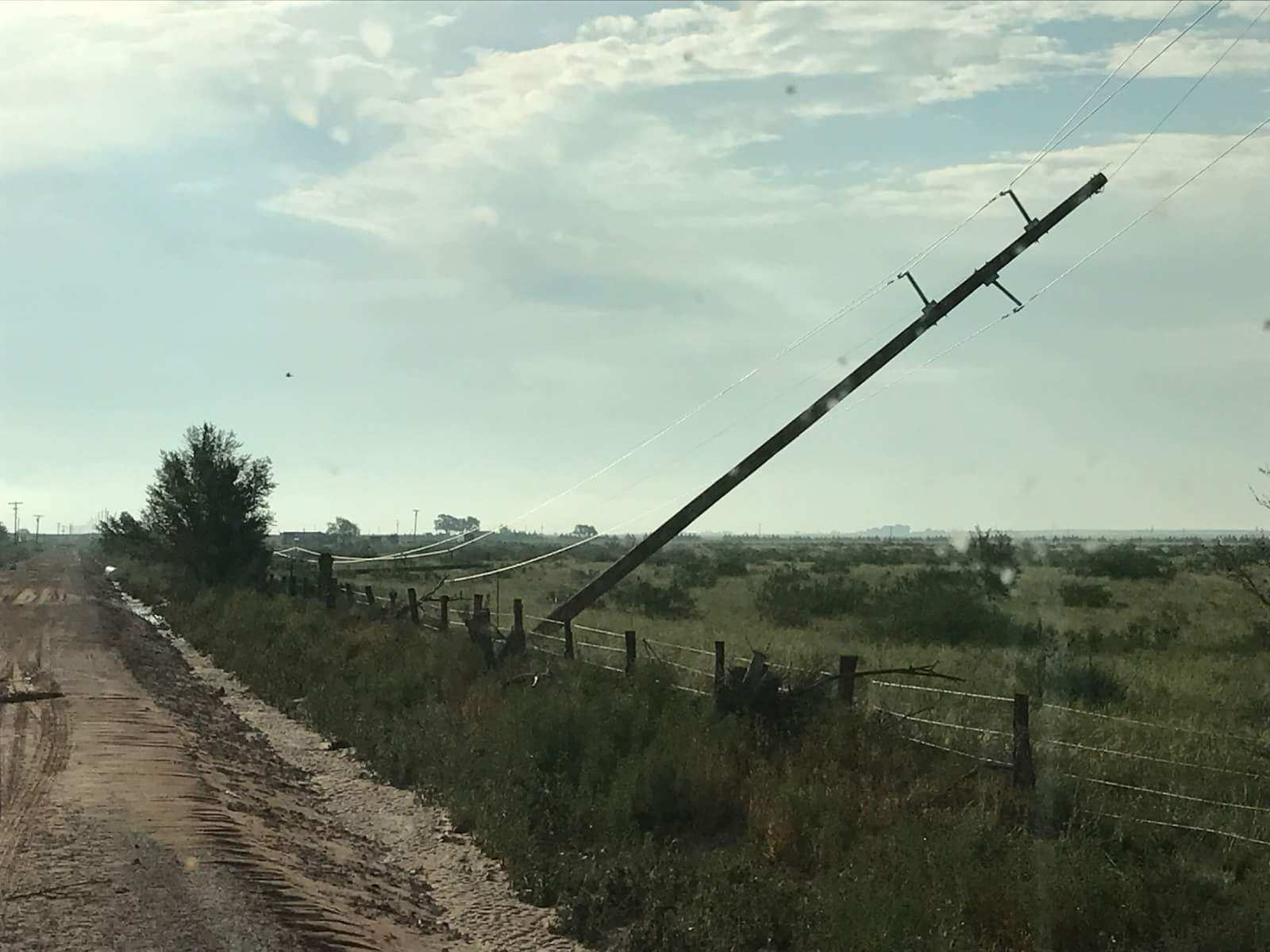 Thursday night storms in Eastern New Mexico caused major damage in Portales. (Photo: Roosevelt County Electric Co-op)