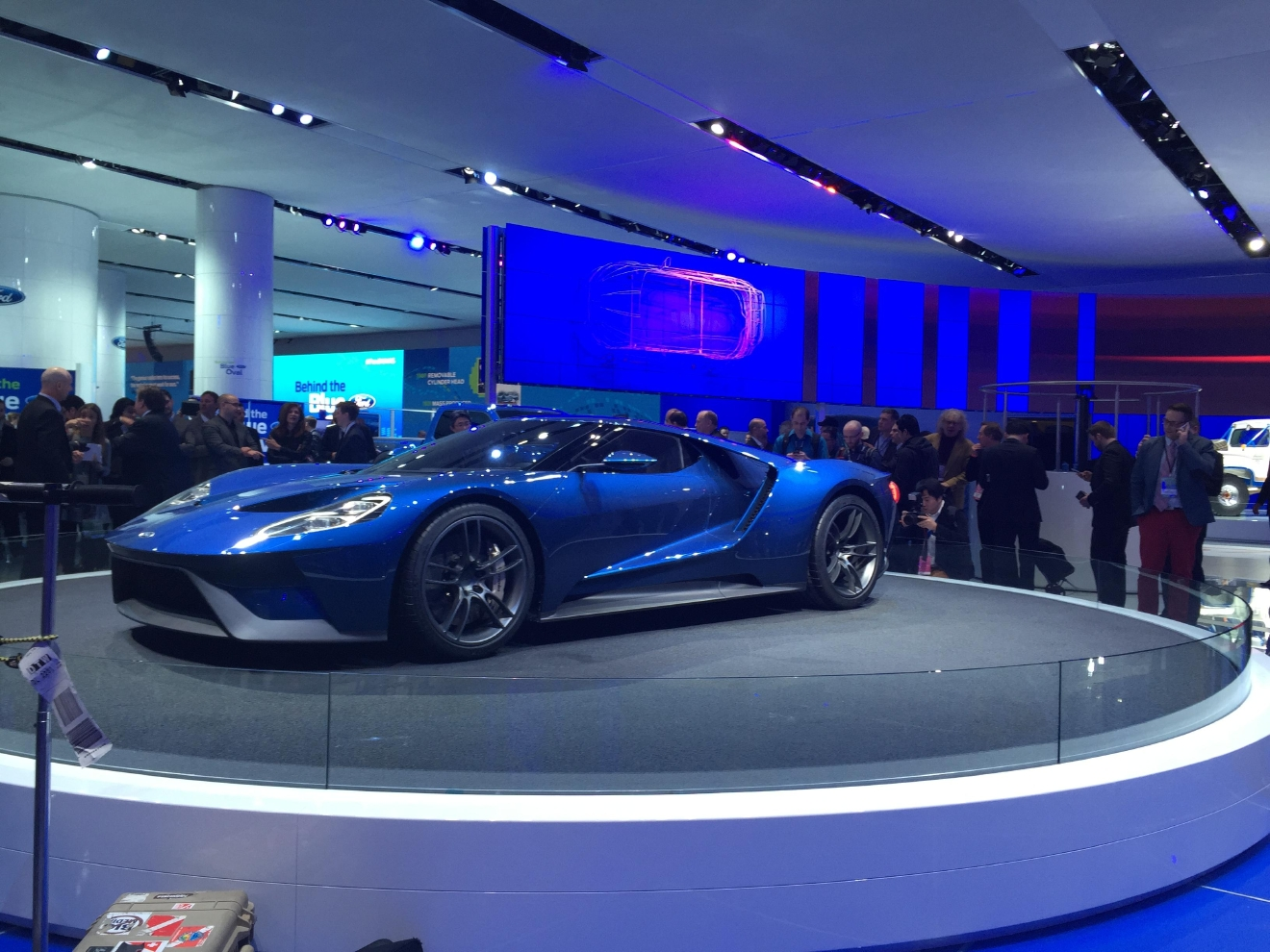 ford gt on display at the 2015 north american international auto show where it was
