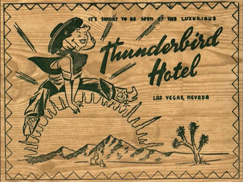 Thunderbird Matchbook (Zook Collection)