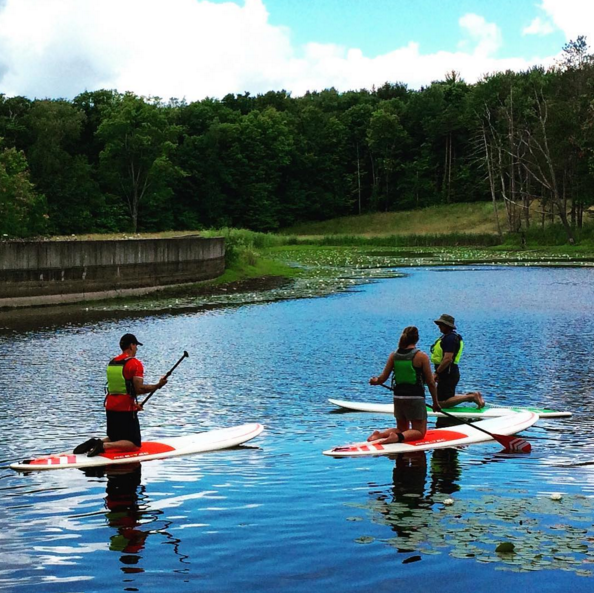 IMAGE: IG user @friendsofcrowell_hilaka / POST: What's SUP?! If you're in the area come take a SUP class at #crowellhilaka with the #llbean Outdoor Discovery School!