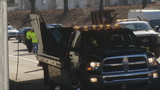 Dump truck strikes Route 10 overpass