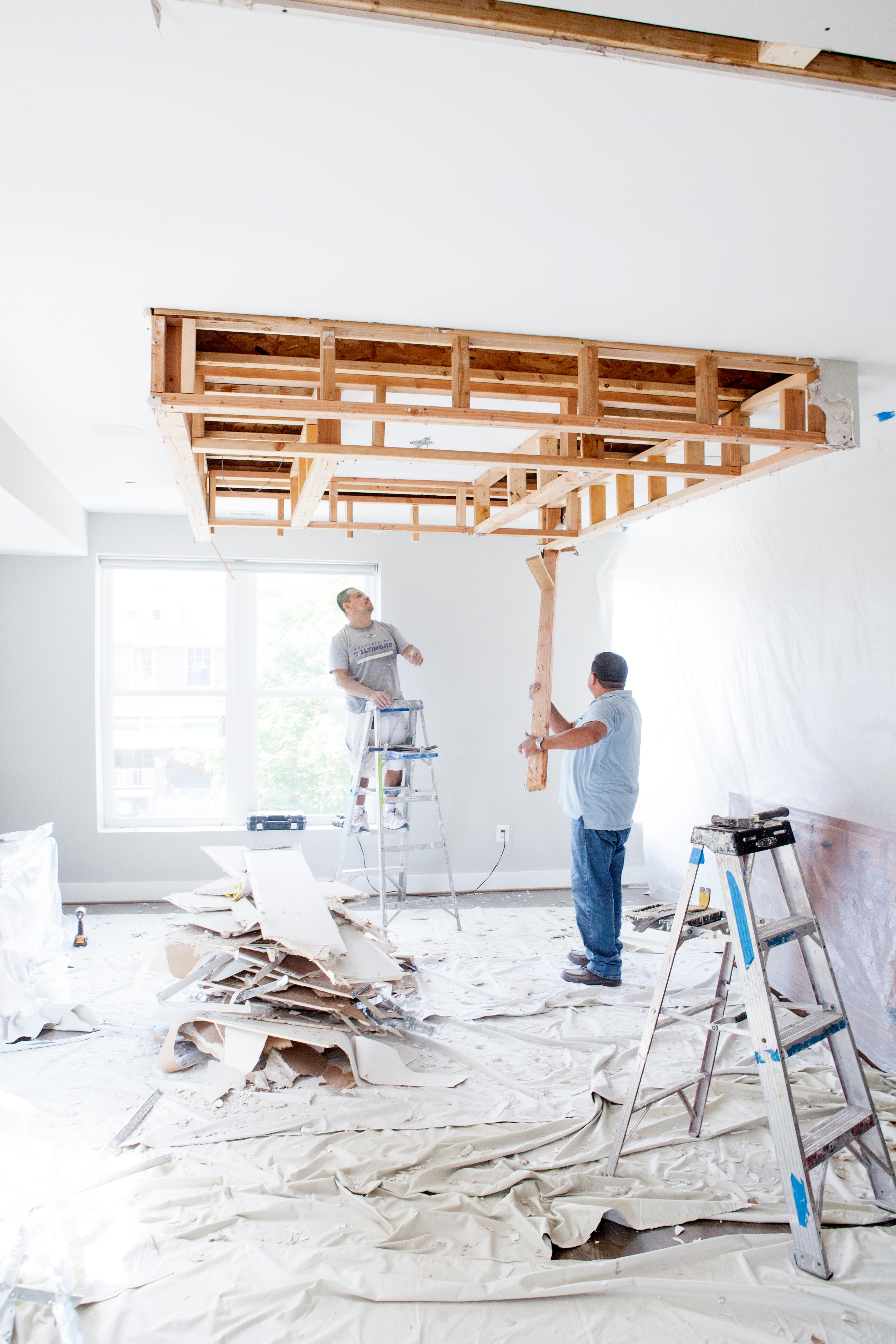 Expect to pay half up front and the other half after the job is done. This is very normal in this industry. This is why it is really important to find an honest contractor. I have heard horror stories of contractors disappearing after they get paid the first half for the job.(Image: Ashley Hafstead)