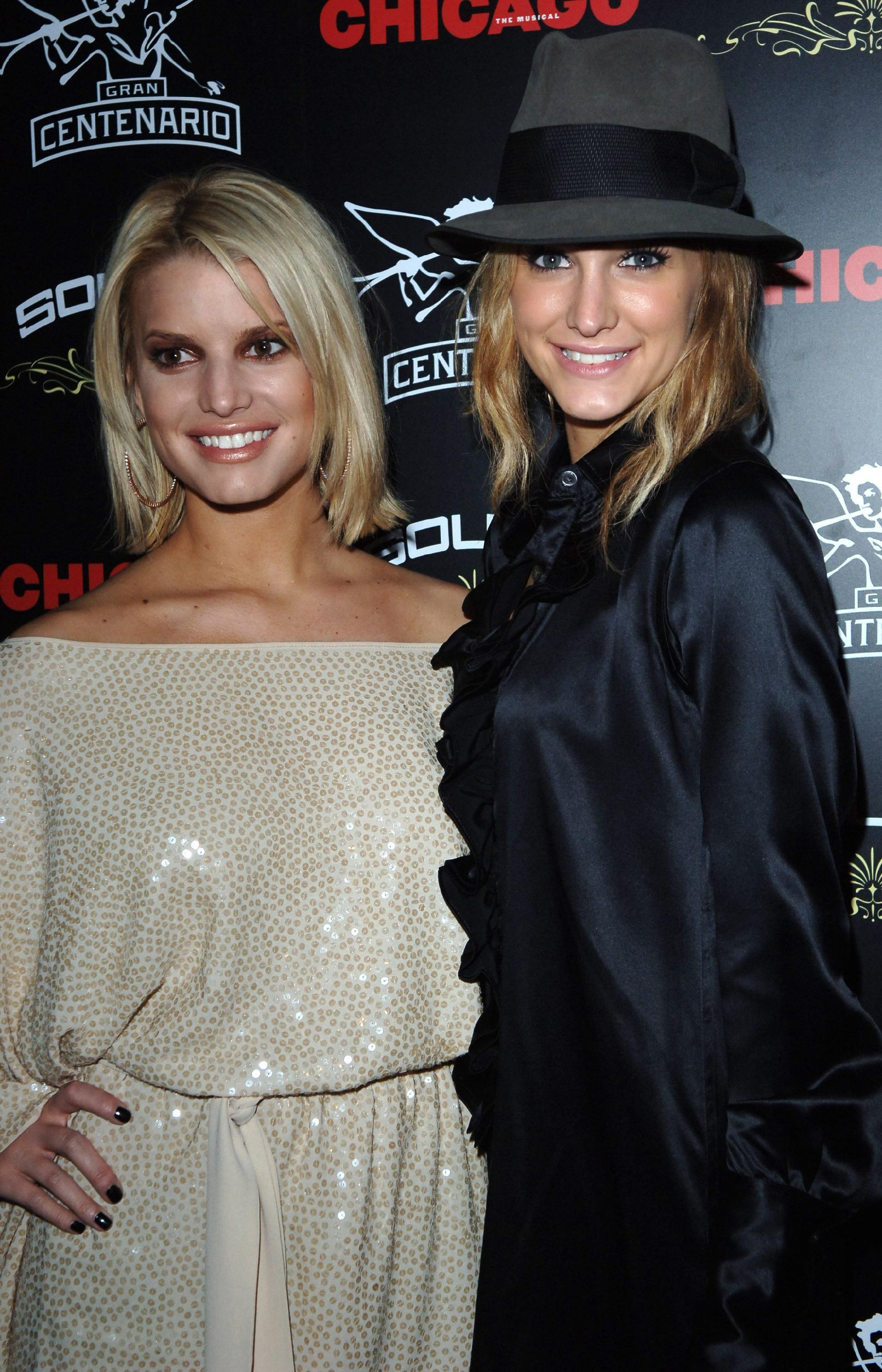 Ashlee Simpson and Jessica Simpson Afterparty for the musical Chicago held at the Sound Nightclub London, England - 25.09.06  Featuring: Ashlee Simpson and Jessica Simpson Where: London, United Kingdom When: 25 Sep 2006 Credit: Daniel Deme / WENN
