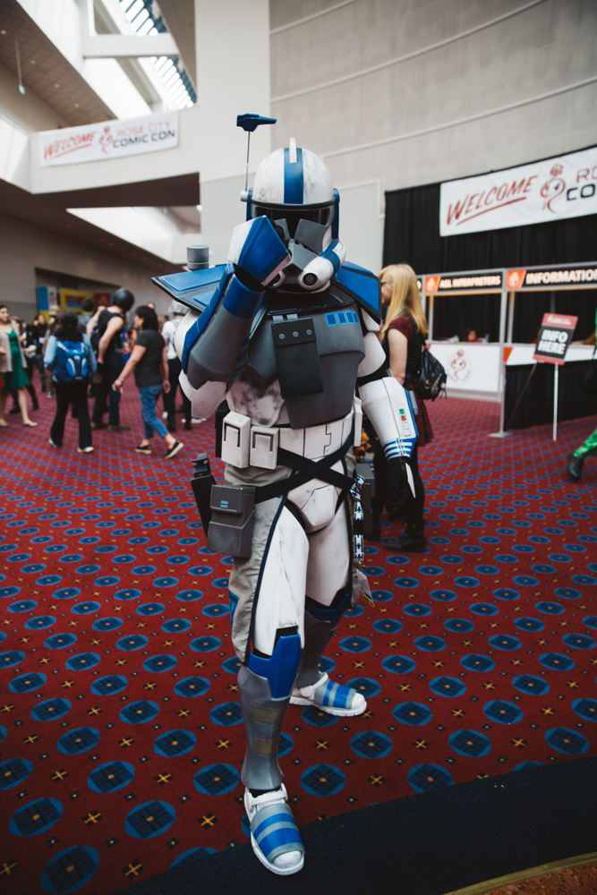 Rose City Comic Con{ }is the premier comic book and pop culture convention in Portland, Oregon. Hundreds flood the city dressed as their favorite characters, many of whom have put days and incredible effort into their makeup and costumes. Don't believe us? Check out these pictures – incredible, right? (Image: Ryan McBoyle / Seattle Refined)
