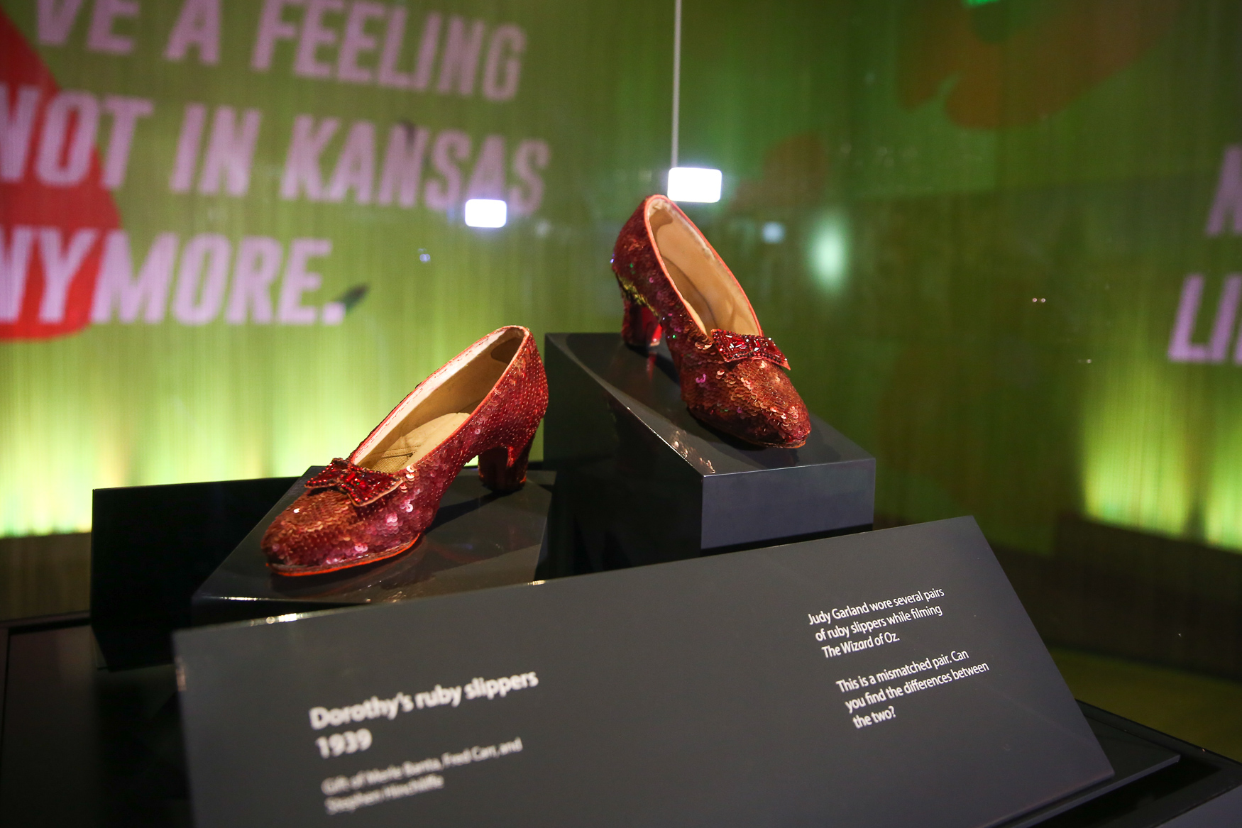 In 'The Wizard of Oz', Dorothy, played by Judy Garland, clicked her heels and wished to go home to Kansas. The National Museum of American History is far from the midwest, but once again it's home for Dorothy's ruby slippers. The slippers were taken off display in April 2017 for badly needed restoration work, but they'll return to the public eye on Friday, October 19. The slippers will be housed in the Ray Dolby Gateway to American Culture exhibit until a new, permanent exhibit is completed in 2020. (Amanda Andrade-Rhoades/DC Refined)