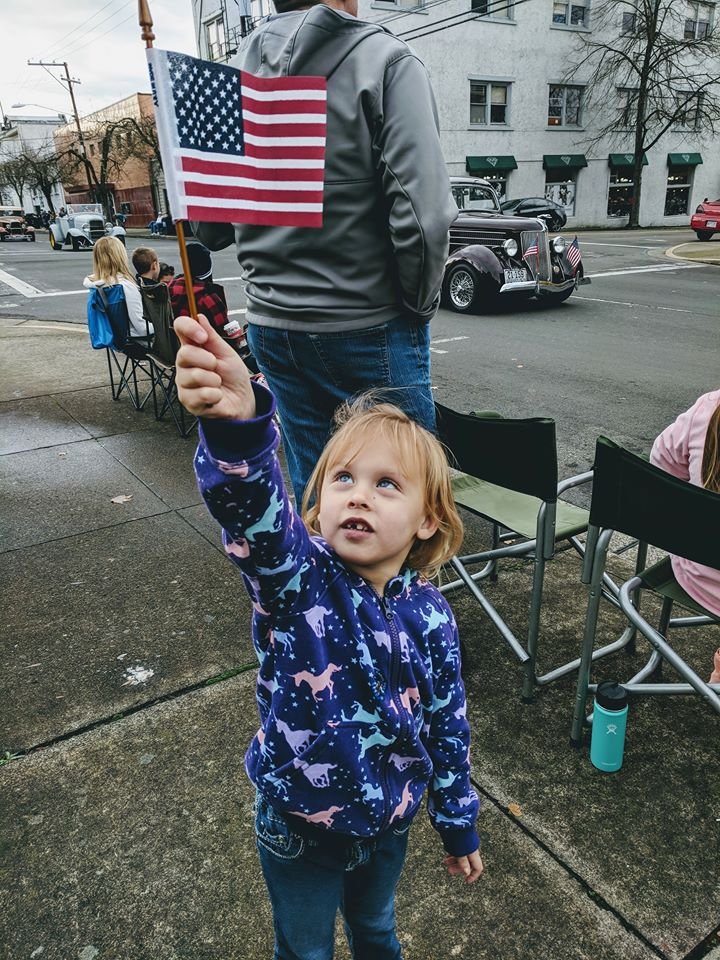 Images from the 2017 Douglas County Veterans Day Parade in downtown Roseburg, Ore., November 11, 2017. (courtesy Jessica Tarver)<p></p>
