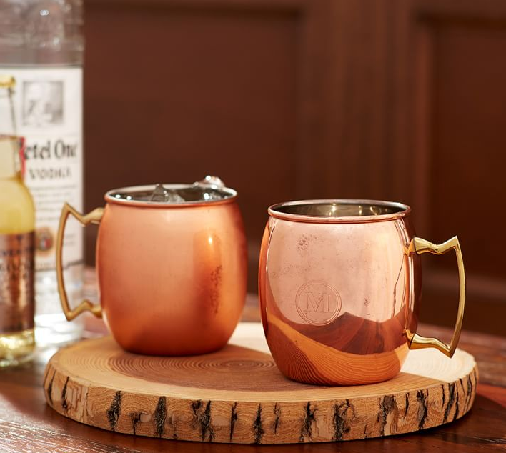 Copper Moscow Mule Mug, Set of 2 from Pottery Barn (Special $35.50). Find on potterybarn.com. (Image: Pottery Barn)
