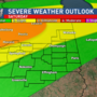 Severe weather threat for late Saturday night